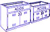 Standard Steel Laboratory Cabinet, Chemical / Base Storage Cabinet -- 200-AS Series