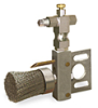 """(Formerly B1009-4X-SS), Horizontal Valve Brush with Drip Tube, 1 1/2"""" Round Stainless Steel, 1/8"""" Female NPT Inlet -- B1009-SR4BHW"""