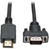HDMI to VGA Active Converter Cable, HDMI to Low-Profile HD15 (M/M), 1920 x 1200/1080p @ 60 Hz, 10 ft. -- P566-010-VGA - Image