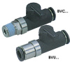 Ball Valves with One-Touch Fitting -- BVC & BVU - Image