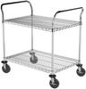"""Cart, 24""""x36"""" 2 Shelf Wire Cart -- AWCART24362"""