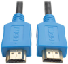 High-Speed HDMI Cable with Digital Video and Audio, Ultra HD 4K x 2K (M/M), Blue, 3 ft. -- P568-003-BL -- View Larger Image