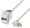 USB A Female Panel Mount to Type A Male 90 Degree Down 24