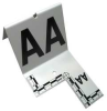 Cut-out ID Tents,A to Z,White -- 13G449