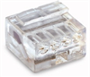 MICRO PUSH WIRE® connector for junction boxes; 4-conductor terminal block -- 243-144