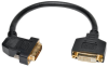 DVI Dual Link Digital Extension Adapter Cable with 45 degree Left Plug (DVI-D M/F), 1-ft. -- P562-001-45L - Image