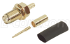 RP-SMA Jack Bulkhead Crimp for RG174, RG188 and RG316 Cable -- BAC503 - Image