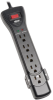 Protect It! 7-Outlet Surge Protector, 25 ft. Cord, 2160 Joules, Black Housing -- SUPER725B
