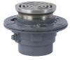 Floor Drain with Round Heavy Duty Stainless Steel Strainer -- FD-1100-B -- View Larger Image