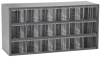 Akro-Mils 17 Gray Powder Coated Steel Stackable Heavy Duty Versatile Cabinet - 6 in Overall Length - 18 in Width - 9 1/2 in Height - 18 Drawer - Non-Lockable - 17018 -- 17018 - Image