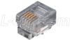 Modular Plug, RJ11 (6x4), Pkg/100 -- TDR6P4C - Image