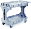 Akro-Mils 30936 2 Shelf Plastic Utility and Service ProCart - 400 lb capacity - Large - Gray -- 30936GREY