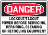 DANGER - LOCKOUT/TAGOUT POWER BEFORE SER -- GO-40711-27