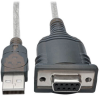 USB to Null Modem Serial FTDI Adapter Cable with COM Retention (USB-A to DB9 M/F), 18 in. -- U209-18N-NULL - Image