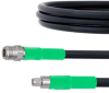 SMA Male to N Female Cable LMR-400 Coax in 24 Inch with Times Microwave Connectors and RoHS with LF Solder -- FMC0206401LF-24 -Image