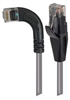 Category 5E LSZH Right Angle Patch Cable, Straight/Right Angle Left, Gray, 20.0 ft -- TRD815ZRA6GRY-20 -Image