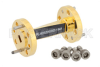 WR-15 45 Degree Right-hand Waveguide Twist With a UG-385/U Flange Operating From 50 GHz to 75 GHz -- PE-W15TW1003 - Image