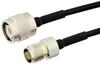 TNC Male to TNC Female Semi-Flexible Precision Cable 24 Inch Length Using PE-SR405FLJ Coax, LF Solder, RoHS -- PE39488-24 -Image