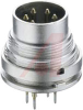 connector,circular din,male receptacle w/lock ring and pcb pins,7 contact,ip40 -- 70151342