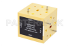 WR-19 Waveguide Magic Tee, UG-383/U-Mod Round Cover Flange Operating from 40 GHz to 60 GHz -- PEWMT1003 -- View Larger Image