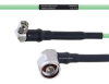 Temperature Conditioned Low Loss RA SMA Male to RA N Male Cable LL160 Coax in 60 Inch -- FMHR0203-60 -Image