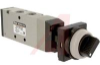 Valve, mechanical actuator - black 2 position push button selector, 5 port -- 70071824