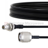 Slide-On BMA Plug Bulkhead to TNC Male Cable FM-SR086TBJ Coax in 24 Inch -- FMCA1576-24 -Image