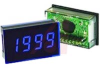 Voltmeter, 3.5 digit blue LED display, 200mV, 8 pin SIL, IP65 -- 70101415