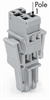 1-Conductor female plug; with lateral locking levers; only in combination with male connectors; codable; can be commoned with miniature adjacent jumpers; 4-pole -- 769-104/021-000