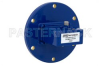 WR-137 UG-344/U Round Cover Flange to SMA Female Waveguide to Coax Adapter Operating from 5.85 GHz to 8.2 GHz -- PEWCA1014 - Image