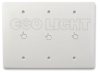 LED Touch Dimmer, 3 Gang Faceplate, 12-24V 8A 3 channel.. -- LC-LF-10DIM