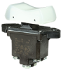 TP Series Rocker Switch, 2 pole, 3 position, Screw terminal, Above Panel Mounting -- 2TP216-50 -Image