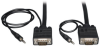VGA Coax Monitor Cable with Audio, High Resolution Cable with RGB Coax (HD15 and 3.5mm M/M), 10-ft. -- P504-010