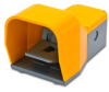 On-Off Foot Switch: single plastic pedal with yellow metal guard -- APS1113-V0-M