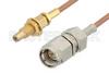 SMA Male to SSMC Jack Bulkhead Cable 48 Inch Length Using RG178 Coax -- PE3C4392-48 -Image