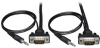 Low-Profile High Resolution SVGA/VGA Monitor Cable with Audio and RGB Coax (HD15 M/M), 3-ft. -- P504-003-SM -- View Larger Image