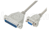 Molded AT Modem Cable, DB25 Male / DB9 Female, 6 ft -- CMZ6-IBM