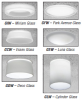 Deco Glass Downlight for One Horizontal CFL Lamp -- 6HF1GIW Decorative