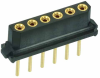 17 Pos. Female SIL Vertical Throughboard Conn. for Latches -- M80-7901742 - Image