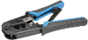 RJ11/RJ12/RJ45 Crimping Tool with Cable Stripper -- T100-001 - Image