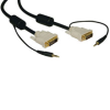 DVI Dual Link Cable with Audio, Digital TMDS Monitor Cable, (DVI-D and 3.5mm M/M) 10-ft. -- P560-010-A