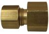 Brass Tube to Fine Thread Female Flare Adaptor -- No. 6280