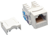 Cat6/Cat5e 110 Style Punch Down Keystone Jack - White, TAA -- N238-001-WH - Image