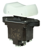TP Series Rocker Switch, 2 pole, 3 position, Screw terminal, Above Panel Mounting -- 2TP216-1 -Image