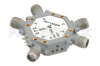 75 dB High Isolation SP4T PIN Diode Switch 6 GHz to 12 GHz, 2.5 dB Insertion Loss with SMA -- PE71S5004 - Image