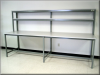 Oversized Table w/ Overhead Shelf -- F-103PCLG Series -- View Larger Image