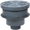 Area Drain with 12 in. Round Adjustable Top, Grate Supported by Bucket -- FD-340-SET -- View Larger Image