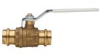 2-Piece, Full Port, Lead Free* Brass Ball Valve with Integral Press Fitting End Connection -- LFFBV-3-PRESS-M1 -Image