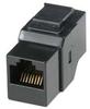 Cat6 Inline Coupler w/ Keystone Latch, Black -- 102010BK