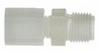 Compression male pipe adapter, 1/2